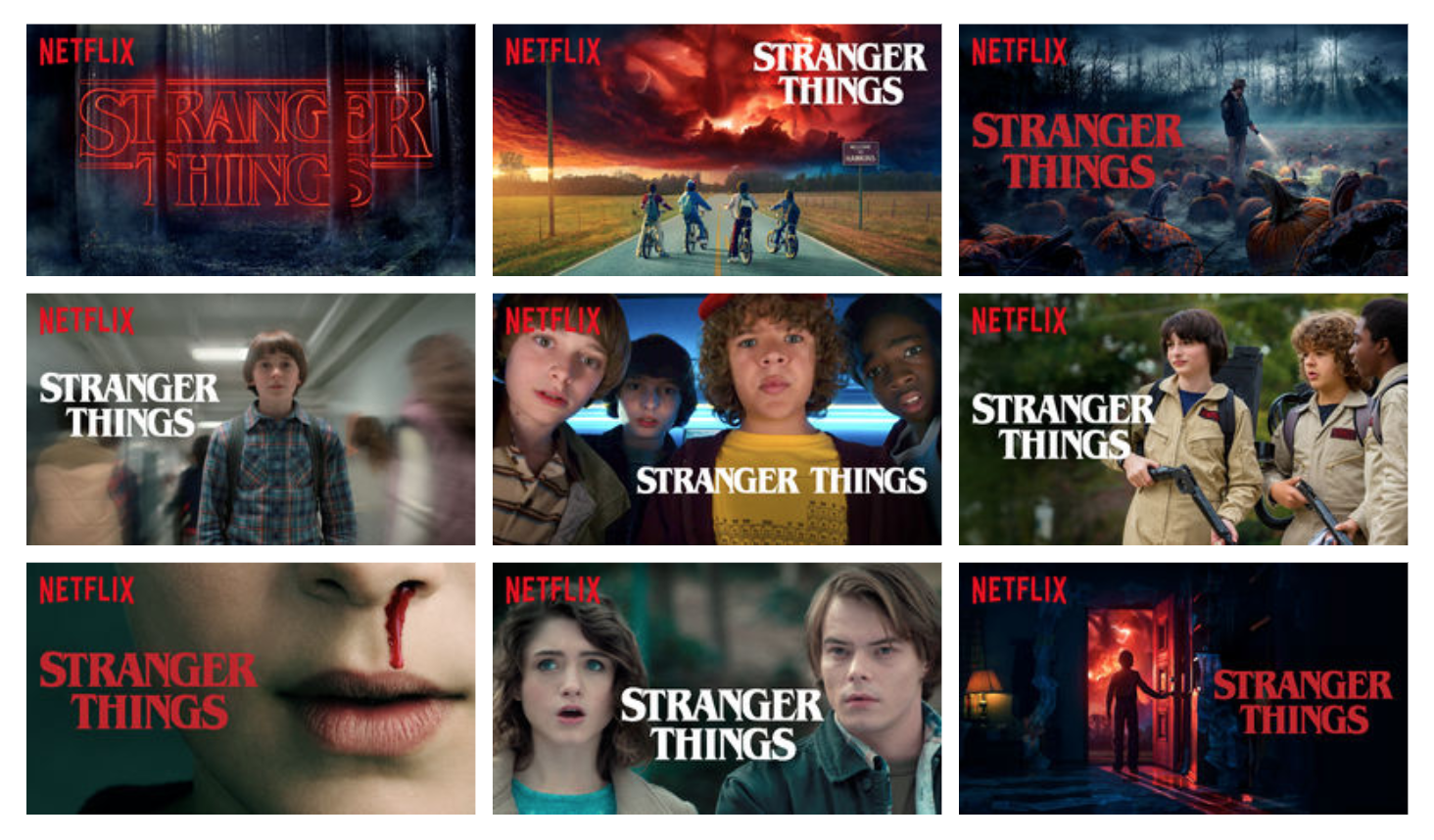 Netflix series Stranger Things and its algorithm in creating artworks