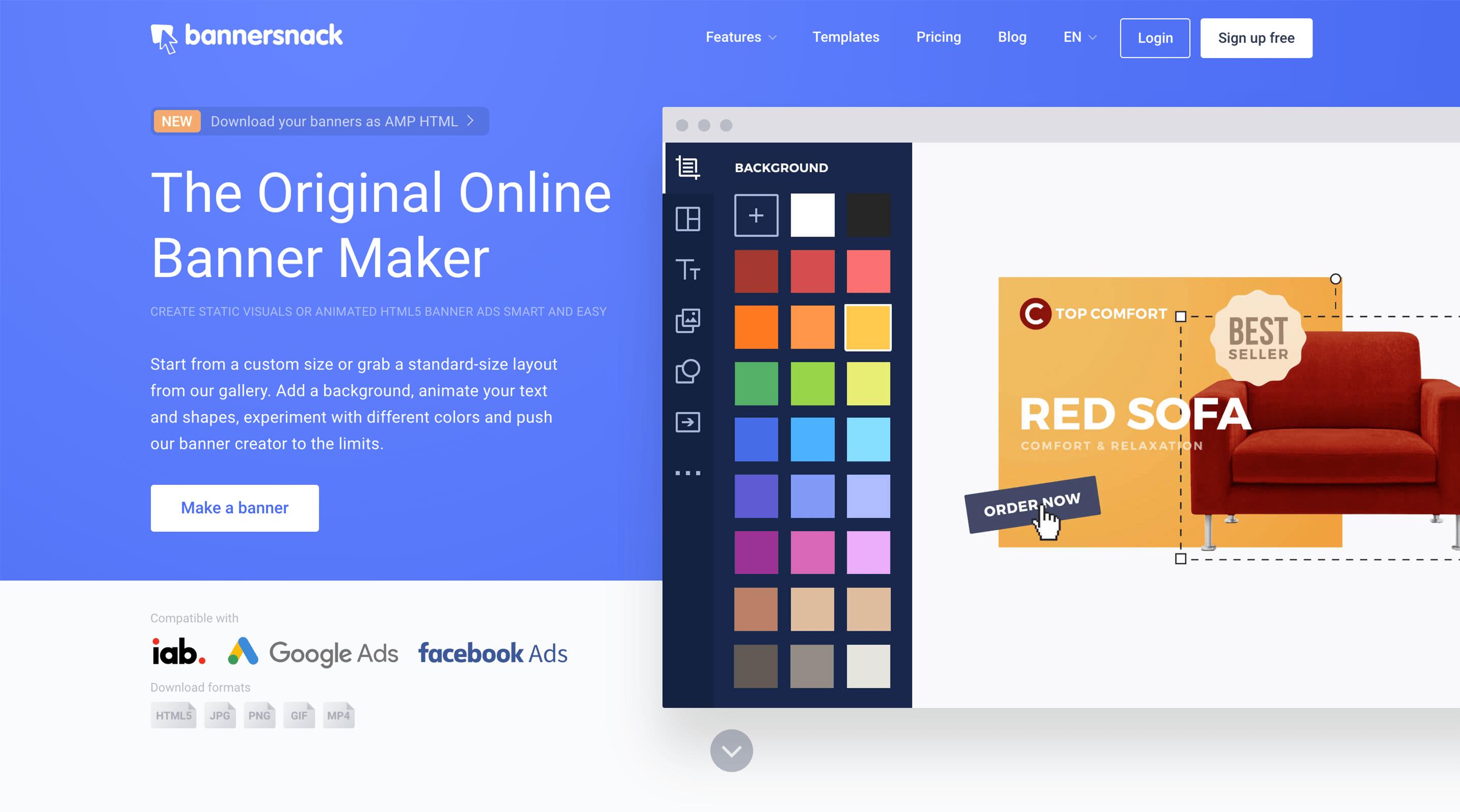 Online design tools Bannersnack