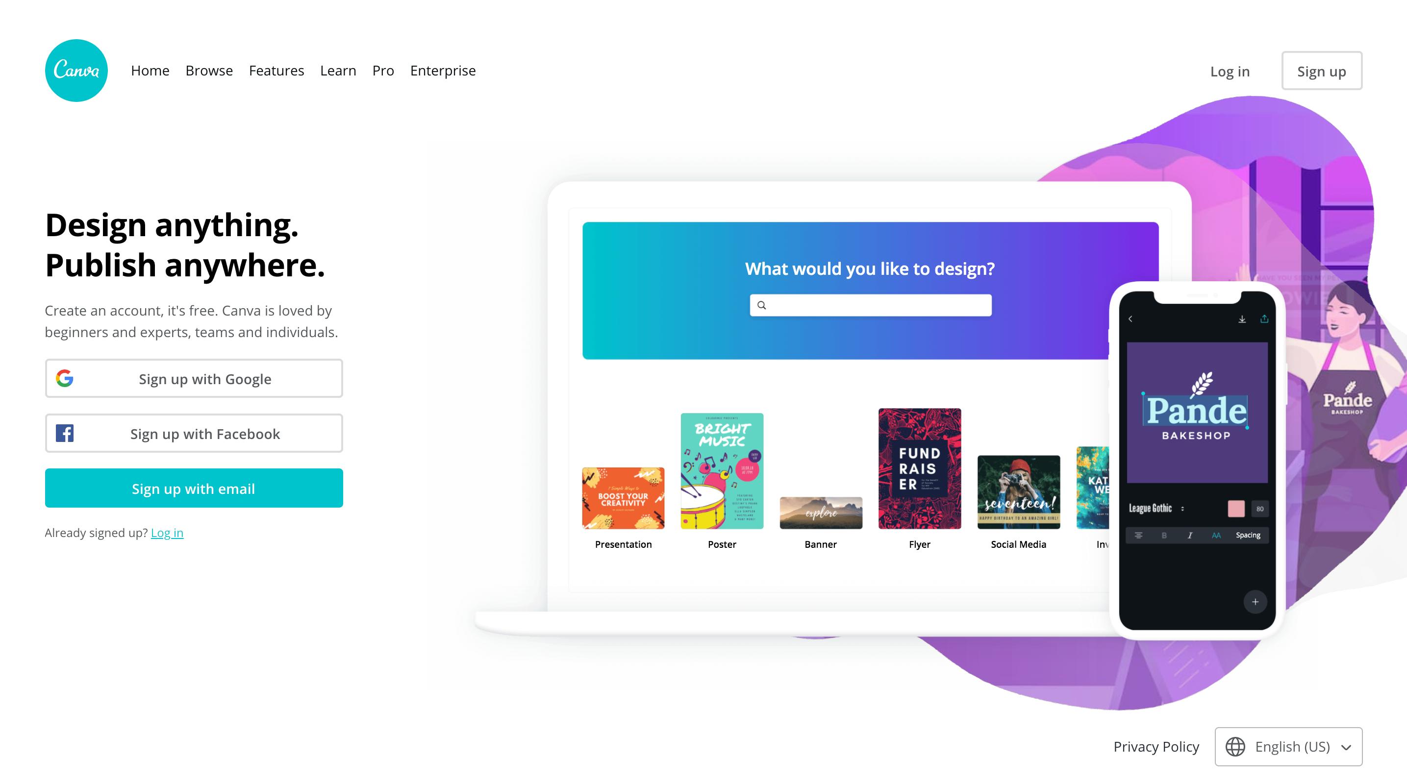 Online design tools Canva