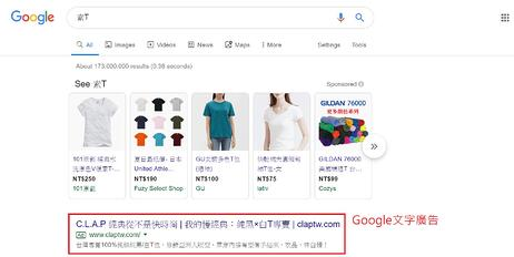 google文字廣告